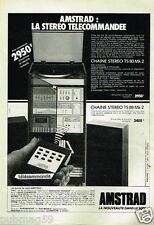 Publicité advertising 1983 La Chaine Hi-Fi Amstrad