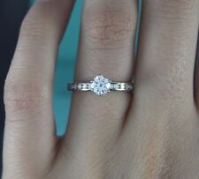 $7,850 Tiffany 0.82ct Platinum H VVS2 Round Diamond Engagement Ring Band 6