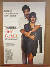vintage Her Alibi movie Poster 1988 Tom Selleck  4613