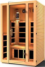 JNH Lifestyles 2 Person Far Infrared Sauna 7 Carbon Fiber Heaters / Damage Box