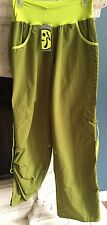 NWT ZUMBA ELECTRO CARGO PANTS, Soldier Green sz L Large NEW *fits like Medium M*