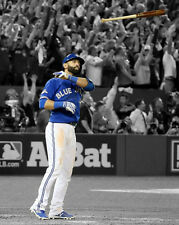Toronto Blue Jays JOSE BAUTISTA Glossy 8x10 Photo Spotlight Bat Flip Print