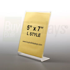 (12) 5x7 Acrylic Photo Frames, Picture Frames, Sign Holders, Slant Back style