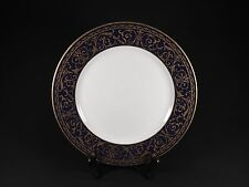 VINTAGE XX RARE ROYAL SHEFFIELD DINNER PLATE UNKNOWN PATTERN FANCY BLACK & GOLD