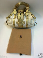 Authentic Louis Vuitton Gold Antigua Theda GM Including Dust Bag