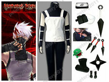 Custom-made Naruto Shippuude Hatake Kakashi Anbu Cosplay Costume Set