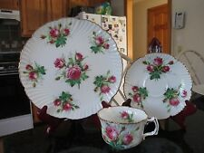 3pc Hammersley Cup & Saucer Trio Gold Trim Grandmother's Rose   MINT   England