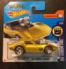 Hot Wheels Short Card CUSTOM  68 Corvette Gas Monkey Garage Redline Real Riders
