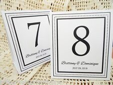 White Table Numbers 1 to 10 Tent Style Wedding Table Decorations Personalised