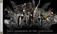 IRON HORSEMEN OF APOCALYPSE 3 X 5 FLAG FL401 bikers item LARGE 3X5 motorcycle
