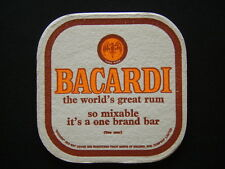 BACARDI THE WORLD'S GREAT RUM SO MIXABLE IT'S A ONE BRAND BAR COASTER