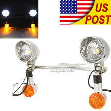 Driving LED Spot Turn Signal Lights Bar For Yamaha V Star 250 650 950 1100 1300