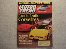 Motor Trend 1987 September Corvette BMW Cougar Jaguar XJ6 Mazda RX-7 1951 Nash