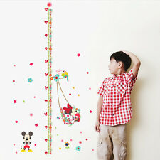 Mickey Minnie Mouse Height Chart Wall Decals Vinyl Sticker DIY Home Decor Mural