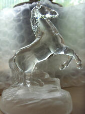 VINTAGE RARE STUNNING CRISTAL D'ARQUES GLASS HORSE ORNAMENT CRYSTAL FRENCH :