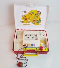 Vintage Radio Shack Kids Cassette Player Recorder With Strawberry Mic Mushroom