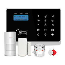 Wireless GSM + Wi-Fi Intelligent Alarm Security System with RFID Card