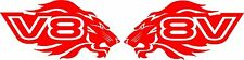 V8 Lions 2 x 200 x 100 Quality Stickers UV rated