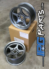 Lenso VPD Gunmetal Drag Autocross Wheels 13x7.5 4x100 Civic Integra Miata Rims