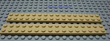 LEGO Traditional Tan Plate 2 x 16 Lot of Two