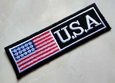 Black United States of America USA Embroidered Iron on Patch Free Shipping
