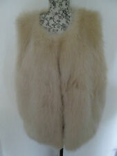HEARTS AND BOWS - CREAM FAUX FUR CLASP FASTNING 100% POLYESTER GILET Size 14