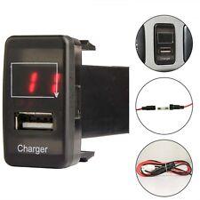 5V 2.1A USB Charger Voltage Voltmeter Digital Red LED Light For Toyota Fortuner