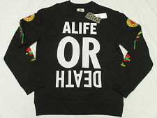 $78 NWT NEW Mens Alife Wise Sayings Sweatshirt Black Embroidered Urban Sz L L916