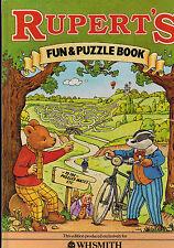 RUPERT BEAR Rupert's Fun & Puzzle Book -  1983
