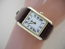 GENUINE CARTIER 18K GOLD  Ladies Cartier  Paris Swiss Vermeil Cartier Watch NICE