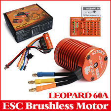SKYRC LEOPARD 60A ESC 9T 4370KV Brushless Motor 1/10 Car Combo + Program Card
