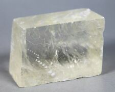 119g  Yellow Optical Calcite Crystal Iceland Spar Transparent