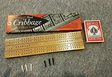 Vintage Cardinal's Wood CRIBBAGE With 2-Player Board Plus Deck of Cards