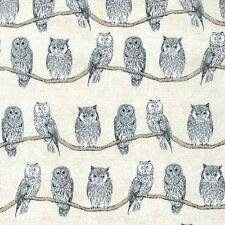 Michael Miller ~ Whoo's Who Cream Fabric / quilting owl vintage lampshade blind