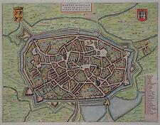 Bergen in Belgien - Mons - Seltene Stadtansicht von Joan Blaeu 1649 - Rare view