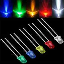 100X 3mm Useful White Green Red Blue Yellow LED Light Bulb Emitting Diode Lamp