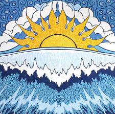 Handmade 100% Cotton Sun Wave Surf Tapestry Tablecloth Spread 30x45 Dorm Beach