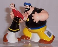 Olive Oyl and Brutus magnetic salt and pepper cruet set