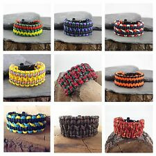 Wide Cobra Paracord Survival Bracelet Friendship Bracelet Various Colours UK