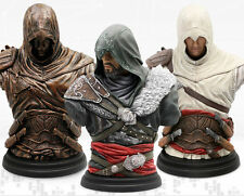 Legacy Collection: Altaïr Ibn-La'Ahad & Ezio Mentor-Figurine Bust Statue Bundle+