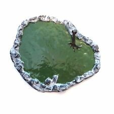 Painted HO/ O Scale resin pond/ lake round shaped - train/ mossy green diorama