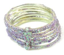 SUPER CUTE KITSCH GIRLS/LADIES GLITTER/SPARKLE PRETTY PURLE FASHION RING(ZX1)