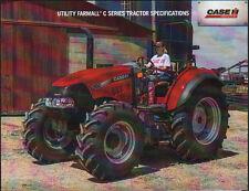 """Case ih farmall """"série c"""" utilitaire tracteur brochure notice"""