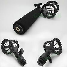 Shock Mount/Suspension mount with hotshoe&handle for Shotgun Mic Microphone