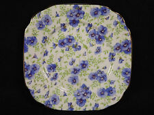 Royal Albert Blue Pansy Bread Butter Plate Chintz Bone China England Brown Mark