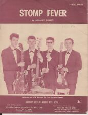 "JOHNNY DEVLIN  Rare 1963 Australian Only OOP Original Sheet Music ""Stomp Fever"""