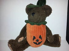 "Boyd's Bear Halloween Removable Pumpkin Costume Suit Plush Toy 11"" Jointed Brown"