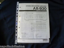 Yamaha  AX-930  Factory Original Service Manual New