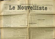 Le Nouvelliste de Lyon n°43 du 12/02/1920 - M.Millerand à Londres - M.Poincaré