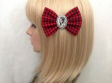 Girl Interrupted hair bow clip rockabilly pin up girl vintage retro accessories